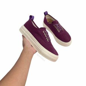 Eytys Purple Lace Up Platform Sneakers | 7